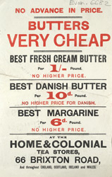 Advert for the Home & Colonial Tea Stores